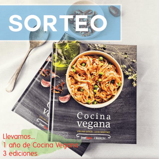 Sorteo de 1 libro Cocina Vegana de Virginia García y Lucia Martínez