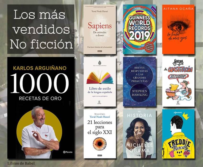 Libros más vendidos - No ficción - 16 diciembre 2018