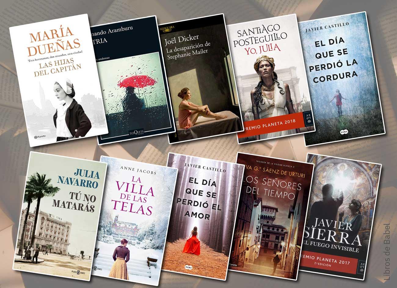Los libros más vendidos en 2018 en las librerías españolas