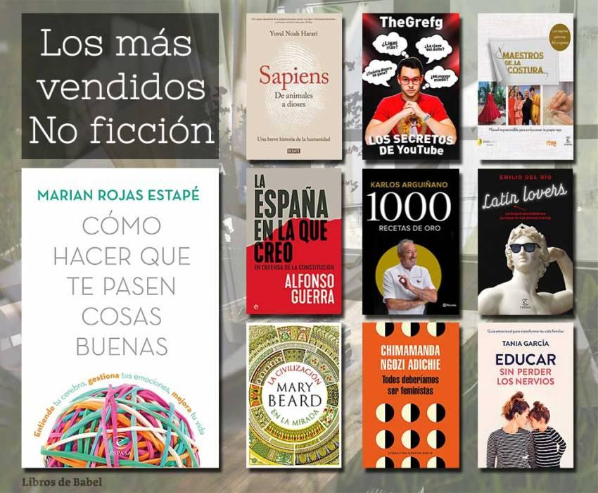 Libros más vendidos 10 febrero 2019 - No ficción