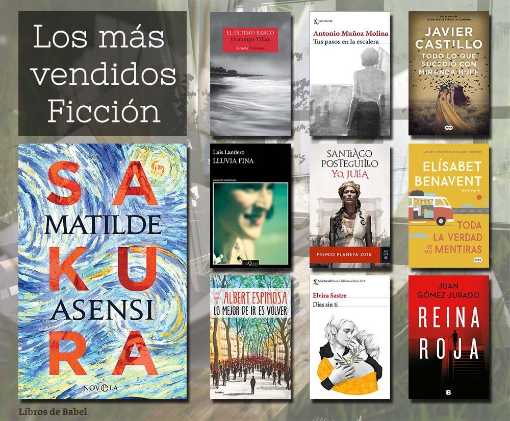 Libros más vendidos del 18 al 24 de marzo de 2019