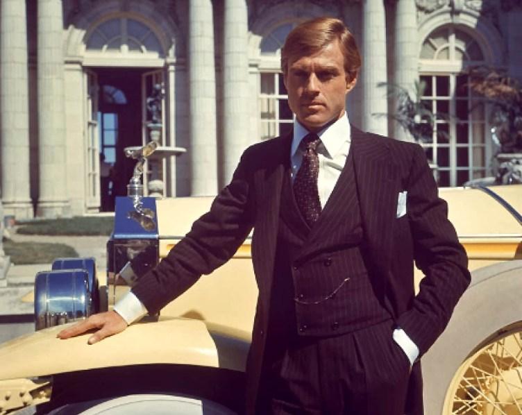 Robert Redford en un fotograma de la película El gran Gatsby de 1974