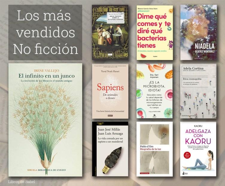 Libros más vendidos de no ficción en España