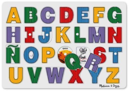 Aprender el abecedario - Puzzles de clavija