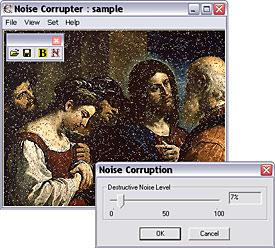 Corruption by destructive noise - screenshot