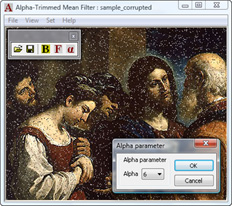 Fig. 5. Alpha parameter selection. Screenshot.