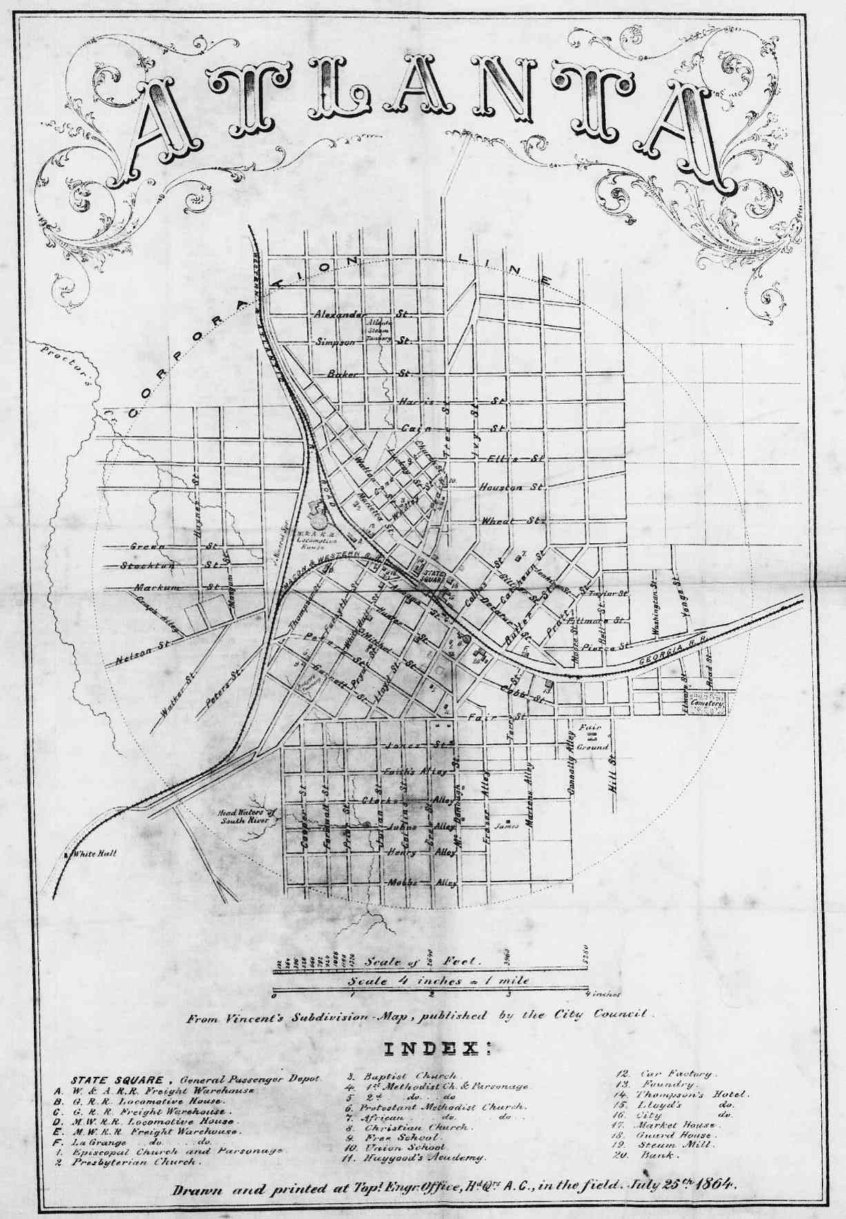 Old Civil War Us Map