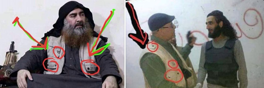 Baghdadi is said to be sharing the sense of style of local militiamen