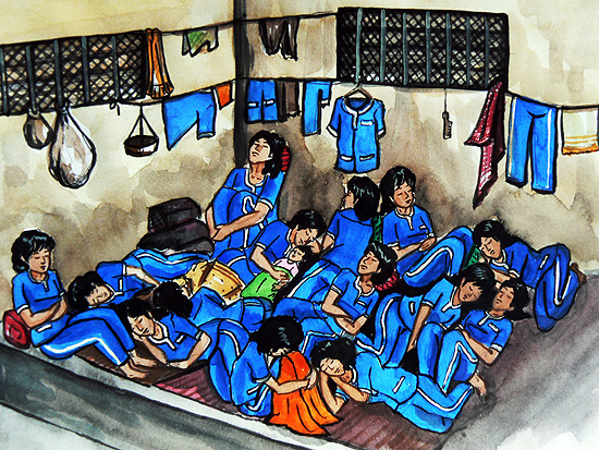 Photo Album Mothers and Children in Cambodian Prison Drawings  Cambodia  LICADHO
