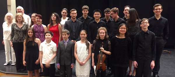 Student performers and student composers at the 45th Music By And For Students concert, Sunday, June 11, 2017. The Helene Fortunoff Theater, Monroe Hall, Hofstra University.