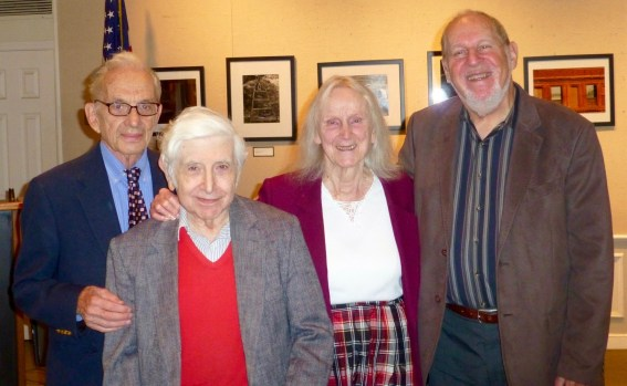 """Bryant Library, October 23, 2016. A Birthday Concert honoring the October 21 Birthday of Murray Cohen, Graham Sternklar and Marga Richter, with LICA President Herbert Deutsch"""