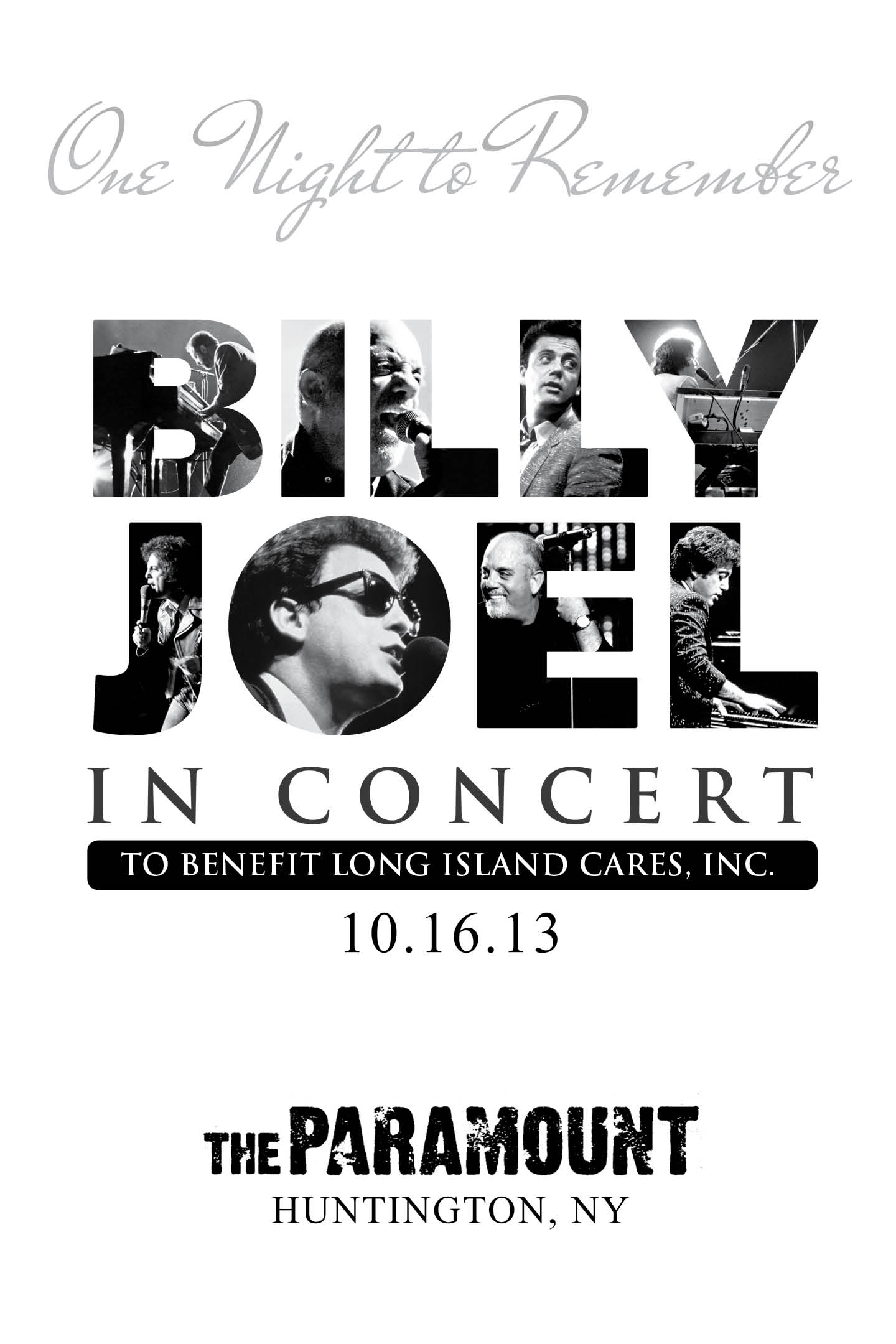 Billy Joel Signs Commemorative Posters of Concert at the