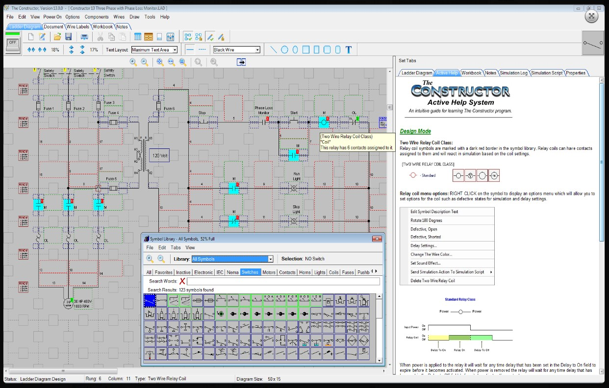 electrical ladder diagram software 9n wiring the constructor 14 schematic