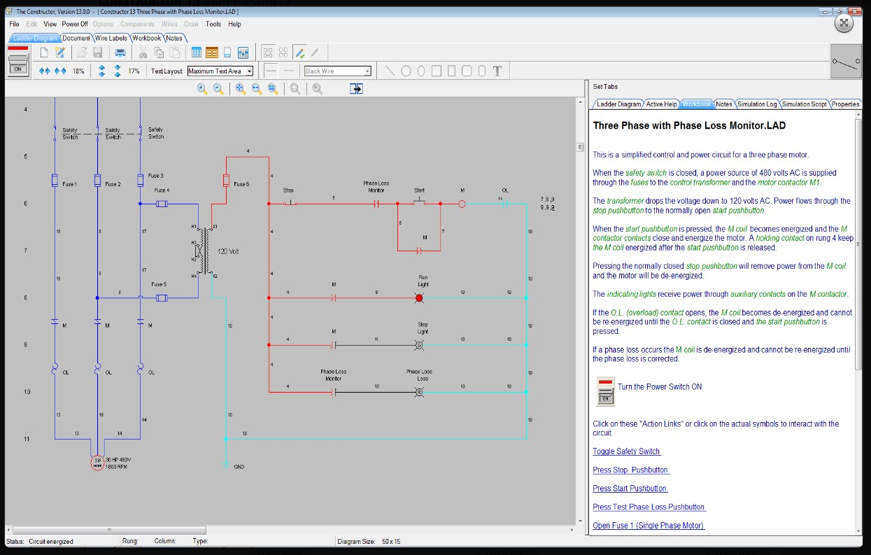 electrical ladder diagram software cat6a wiring the constructor 14 schematic