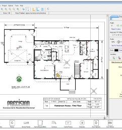 residential wire pro software draw detailed electrical floor plans [ 1246 x 794 Pixel ]