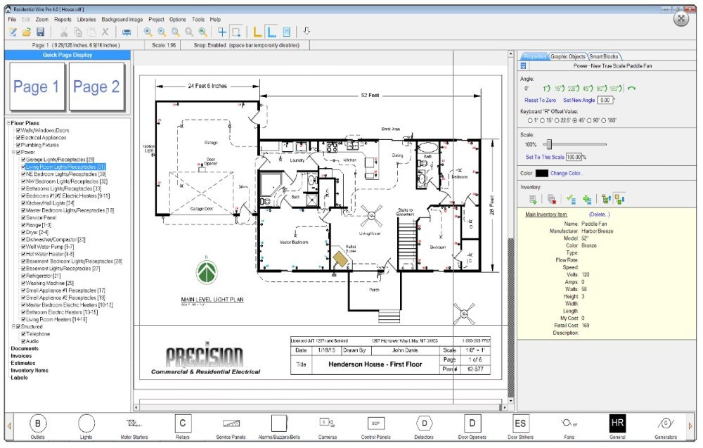 medium resolution of residential wire pro software draw detailed electrical floor plans