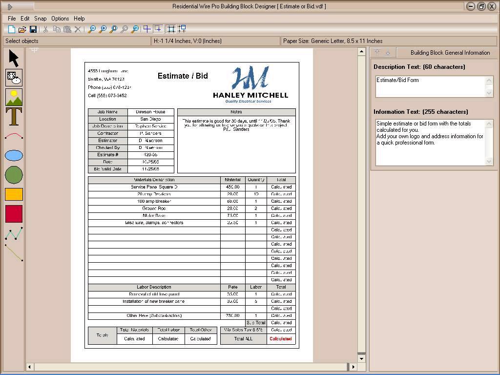Construction In Nanopics Construction Cost Estimate