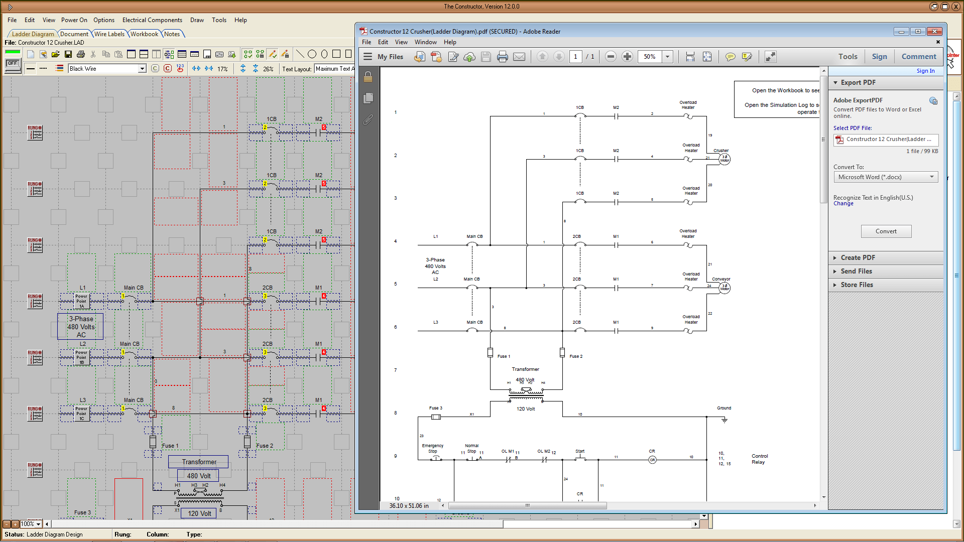 electrical ladder diagram software sorting venn the constructor 12 schematic