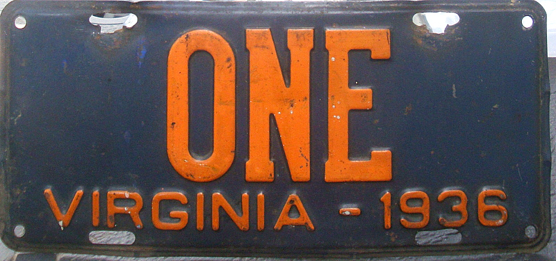 Virginia License Plates