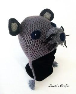 Gorro lana alpaca ratón