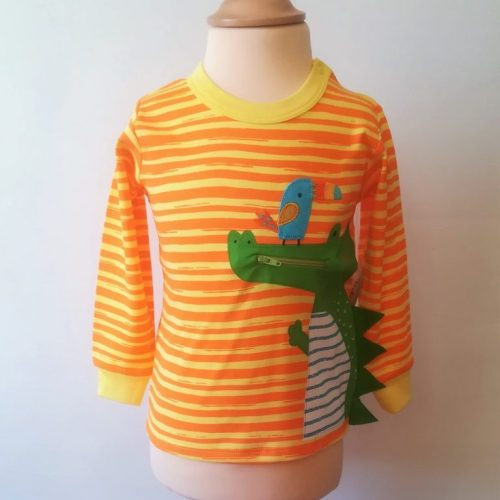 Camiseta bebé manga larga cocodrilo púas