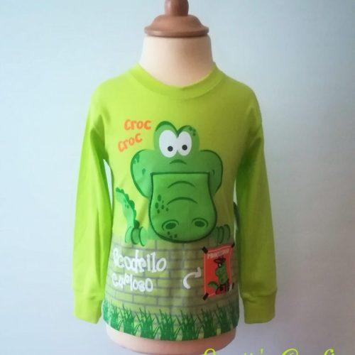 Camiseta manga larga cocodrilo verde