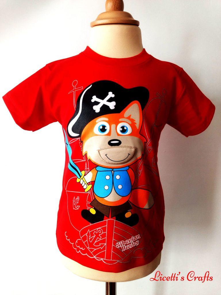 Camiseta algodón pima con zorro pirata boca cerrada