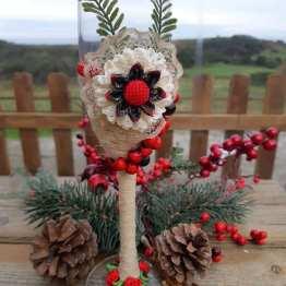 Copa decorada navidad