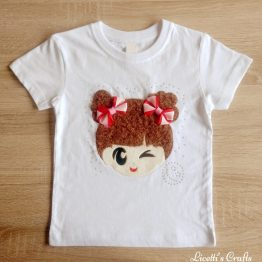 Camiseta manga corta con relieve hecho a mano wink