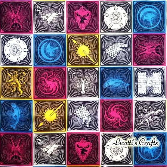 tejido mascarillas juego de tronos