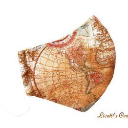 mascarilla higienica mapa mundi atlas