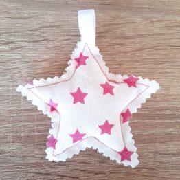 Llavero decoración arbol de navidad estrella rosa