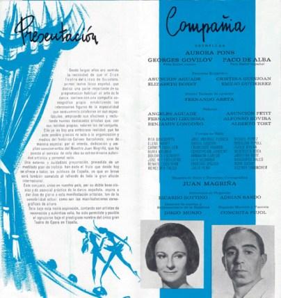 1966-07-28 al 31-Teatro Lirico - Palma de Mallorca - Presentación - ballet del liceo