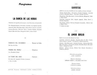1966 - Teatro Principal de Valencia - programa-La danza de las horas-gaviotas-el amor brujo