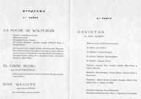 1966 - Teatro Fortuny de Reus - programa 1ª y 2ª parte-la noche de walpurgis-el cisne negro-don quijote-gaviotas