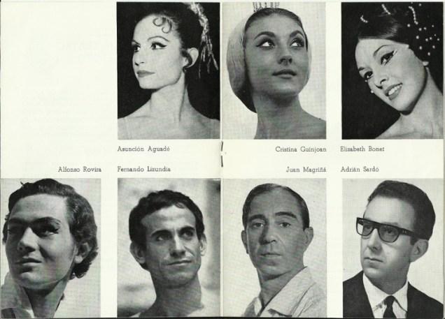 1968 - Lloret de Mar - festival de verano - repertorio-ballet del liceo