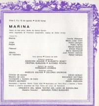 1968 - Plaza de Toros las Arenas - Festivales de España - repertorio MARINA