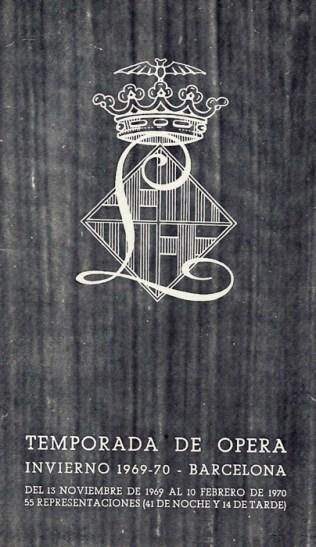 1969 - Gran Teatro del Liceo - Temporada de opera - portada