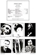 1979 - IX festival de opera y danza - Asociación Valenciana Amigos de la Opera- Sanson y Dalila