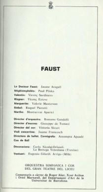 "1982 - ""Faust"" - G. Teatro del Liceo"