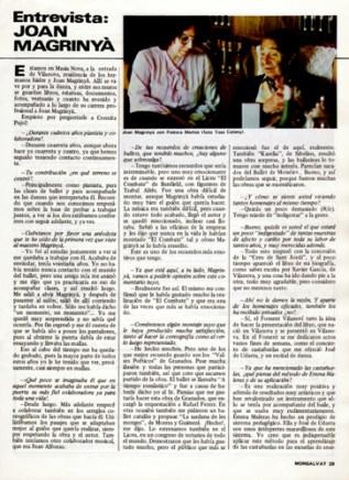 1984 - Entrevista Joan Magrinyà - revista Monsalvat(1)