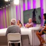 TV local de Elda - entrevista en directa- Gloria Gella, Delmau Gonzalez, mestre Gerardo Perez Busquier