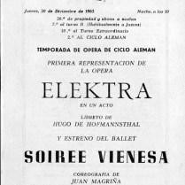 1962-63 - Programa Liceu- Temporada d'opera d'hivern del 3/11/1962 al 11/02/1963Las Bodas de Figaro- Elektra-SOIRÉE VIENNESE-