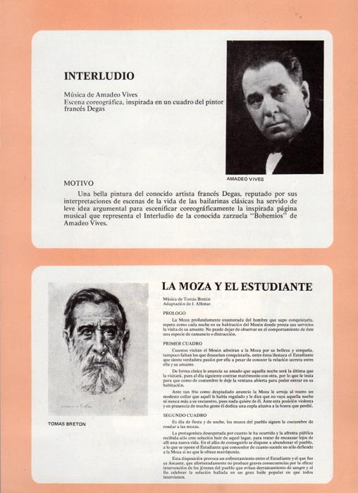 1972 - Programa-Interludio-La Moza y el estudiante