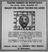 1973-08-30-La Vanguardia-Teatre Grec-Tapices de Goya, Obsesion, Suit de Bizet, La Moza y el estudiante