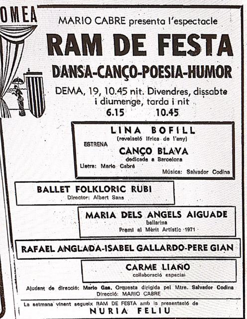 an-1971-08-18-Teatro Romea-Angels Aiguade premi al merit artistic