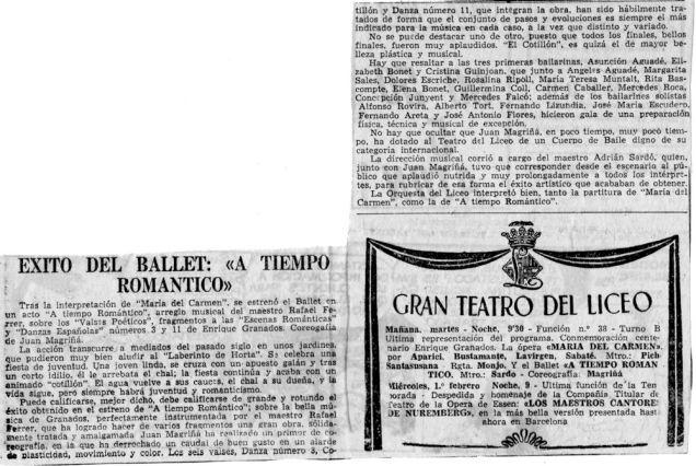 """cr-1968-liceo programa-éxito del ballet """"A tiempo romántico""""-1"""