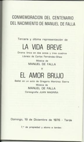 pl-1976-12-19-LA VIDA BREVE-EL AMOR BRUJO-Conmemoració del centenari M. Falla-1