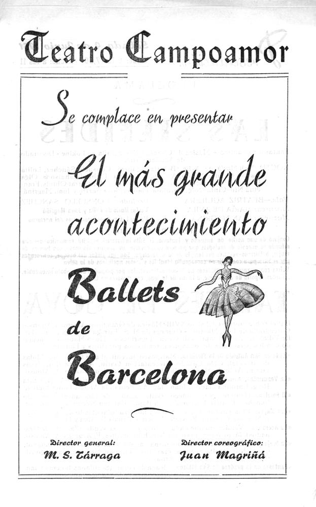 PBB-1951-07-06-Ballets de Barcelona-Teatro Campoamor-Oviedo-0