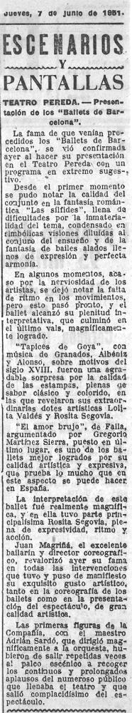 1951-06-07-Ballets de Barcelona-Teatro Pereda-Santander-TAPICES DE GOYA-EL AMOR BRUJO-LAS SILFIDES-Juan Magriñá, Rosita Segoviacr